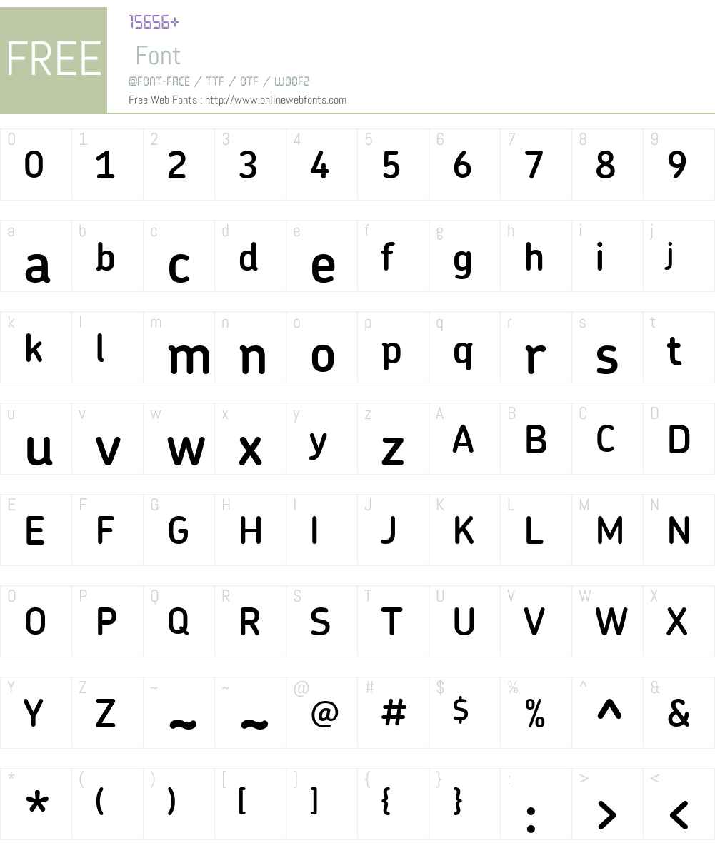 ChevinDemiBold Font Screenshots