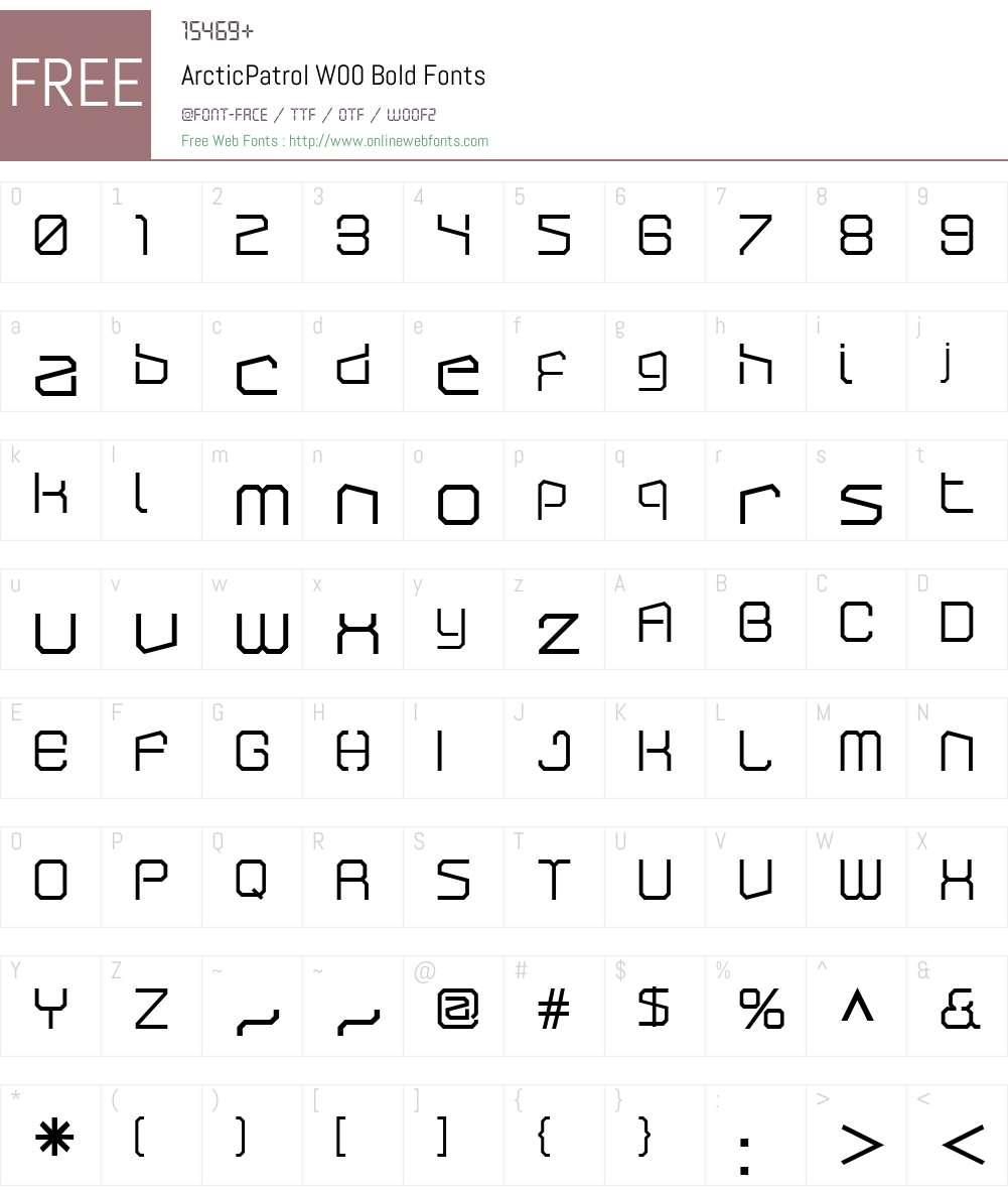 ArcticPatrolW00-Bold Font Screenshots