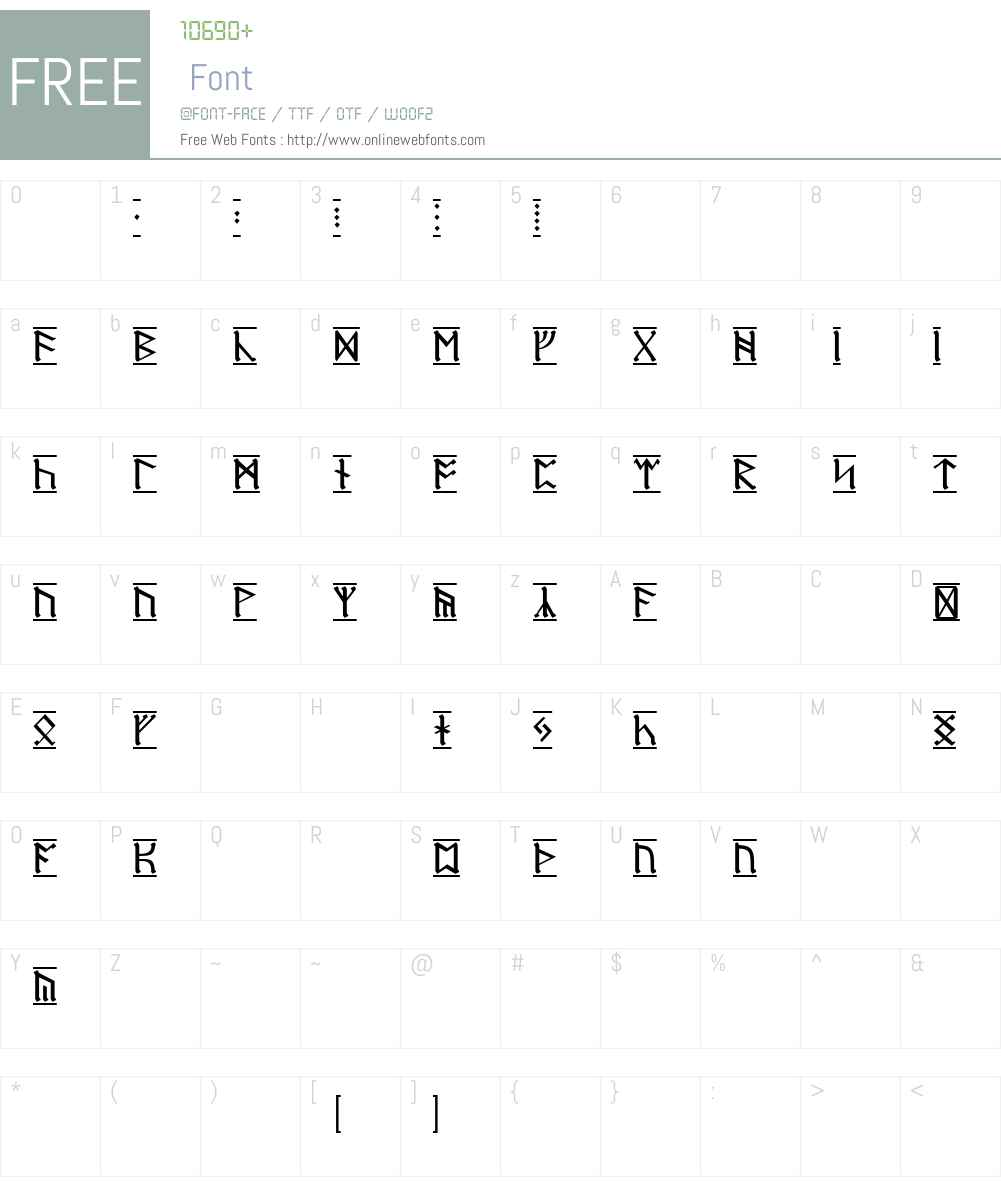 Dwarf Runes-1 Font Screenshots