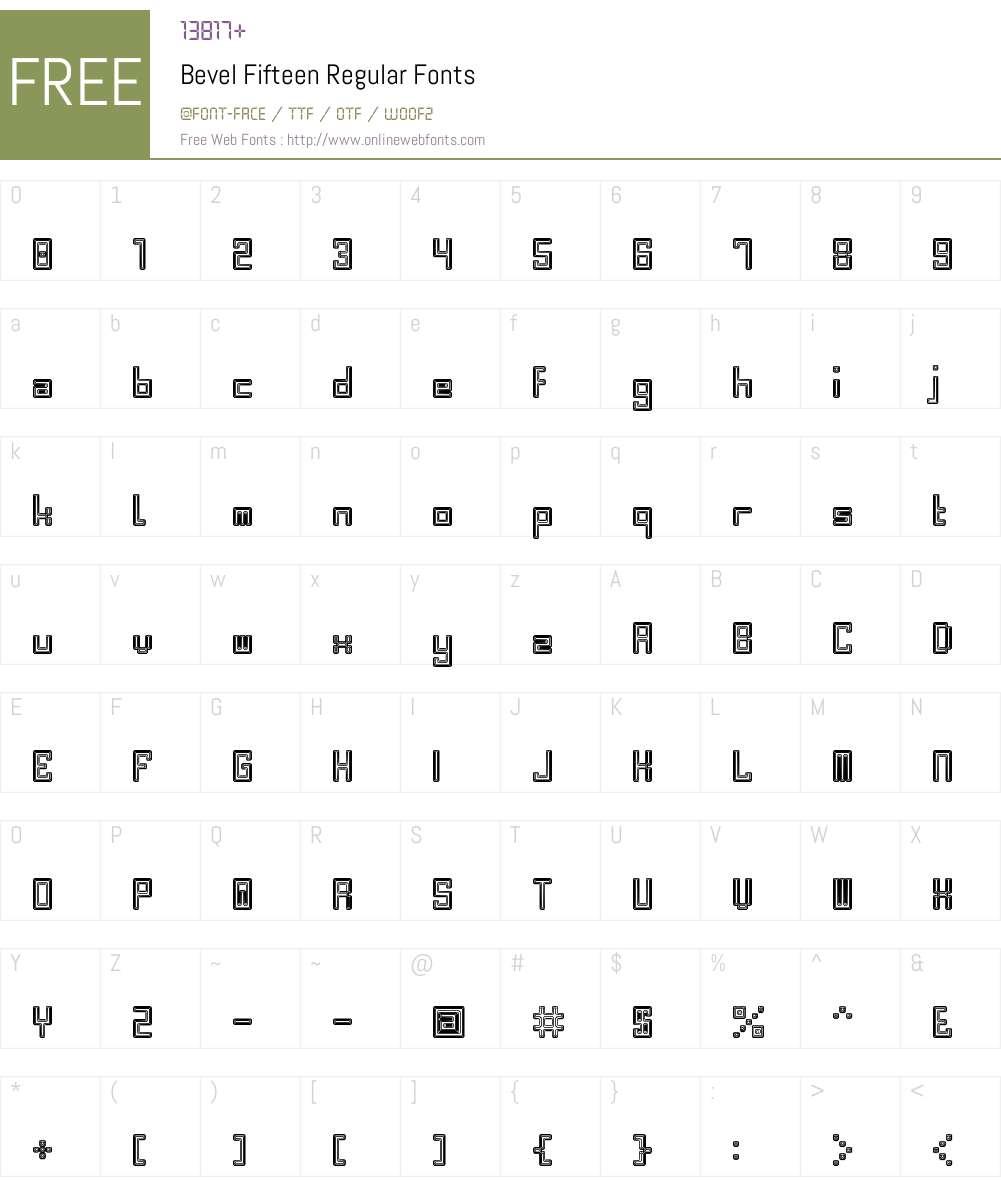 Bevel Fifteen Font Screenshots