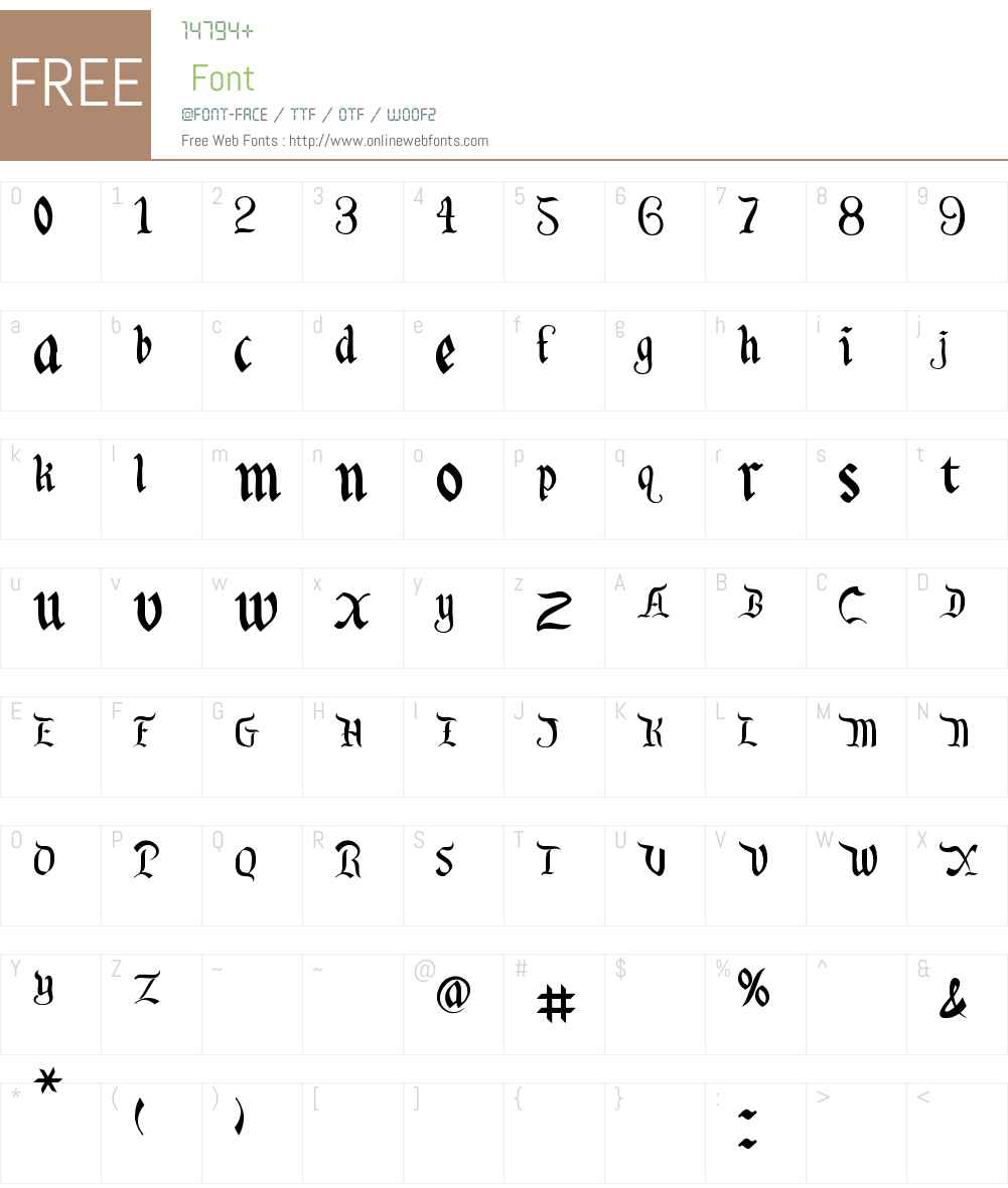 Orange Grove Font Screenshots