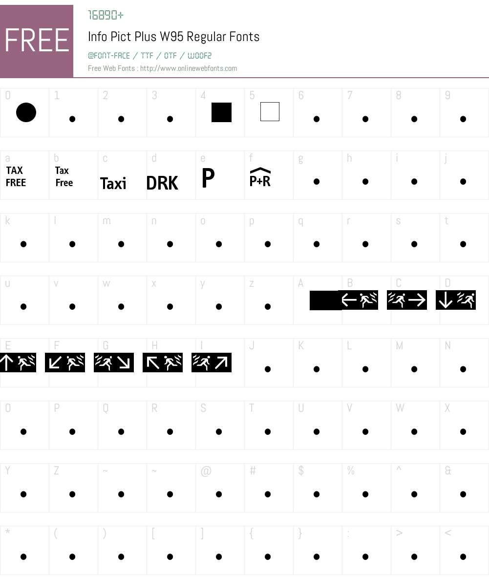 FF Info Pict Font Screenshots