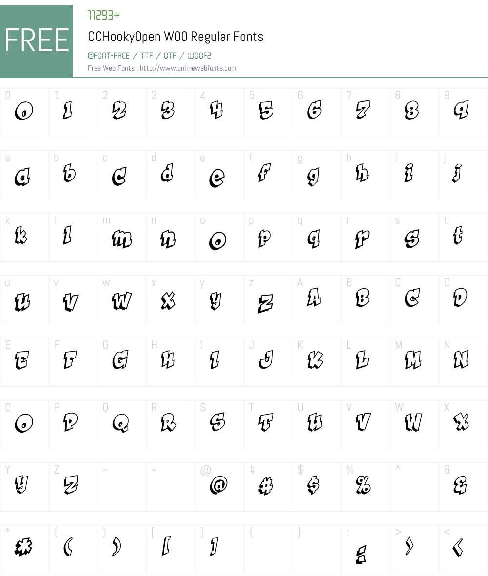 CCHookyOpenW00-Regular Font Screenshots