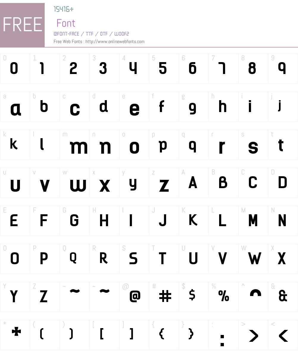 KelsonBoldW00-Bold Font Screenshots