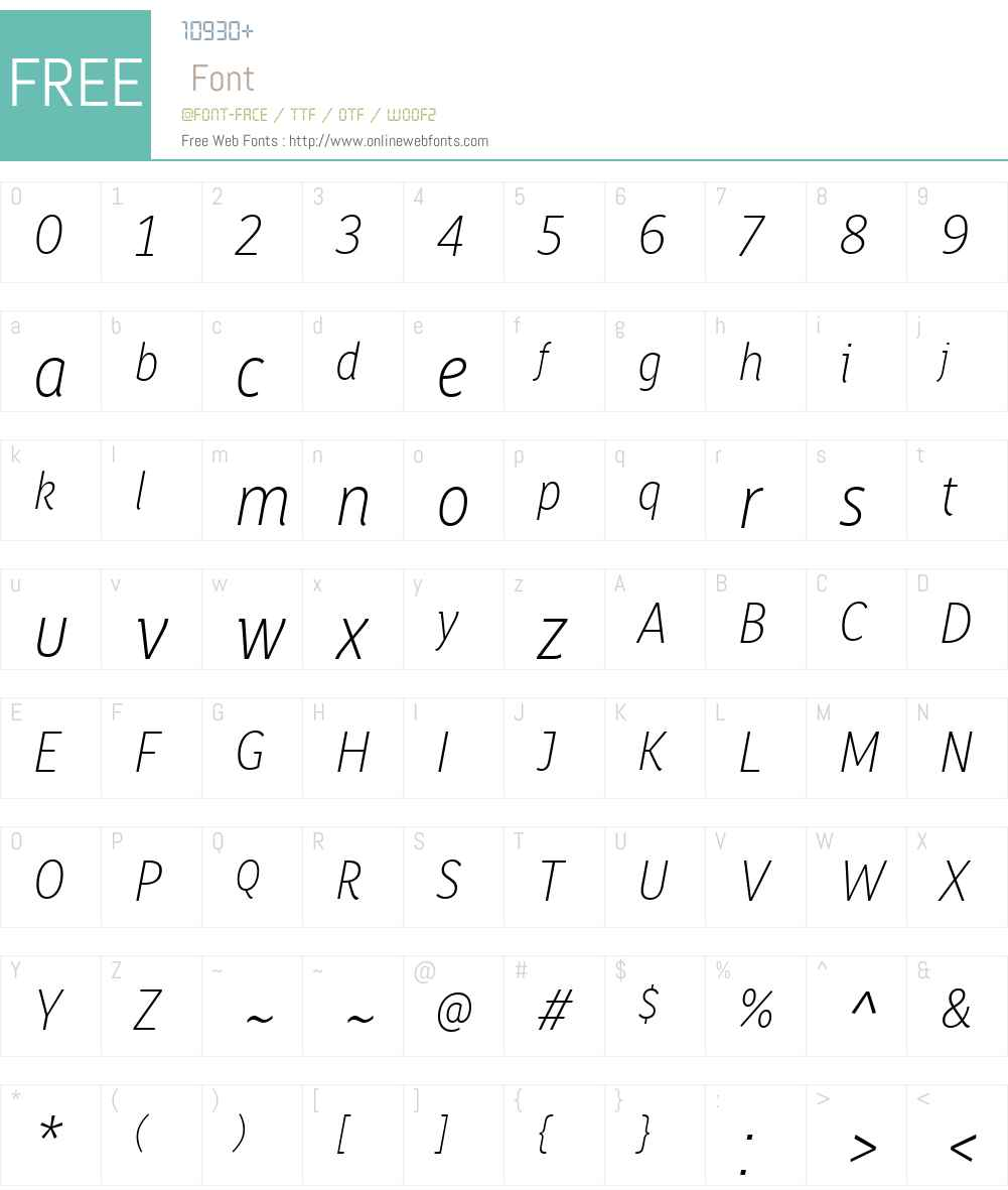 Saya FY Font Screenshots