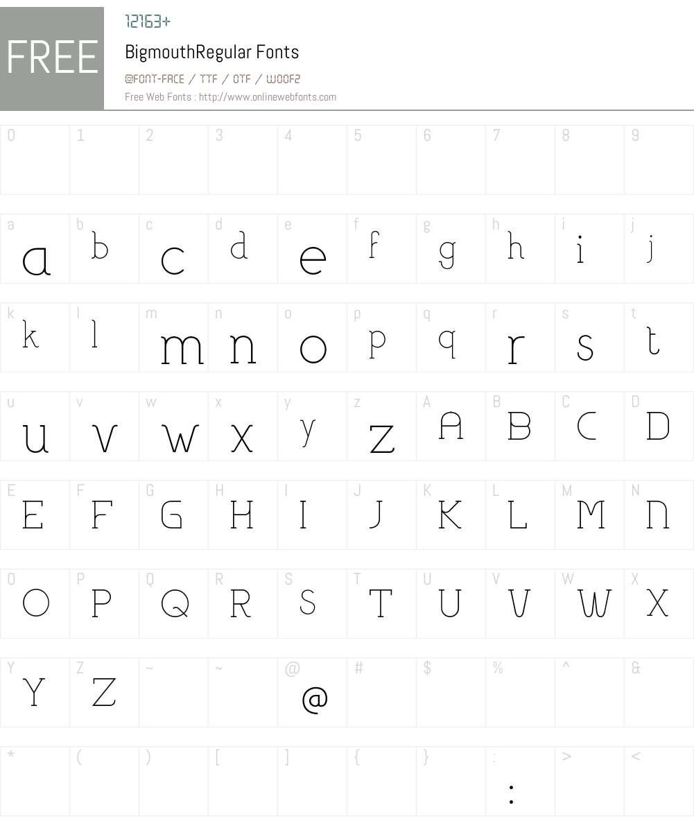 Bigmouth Font Screenshots