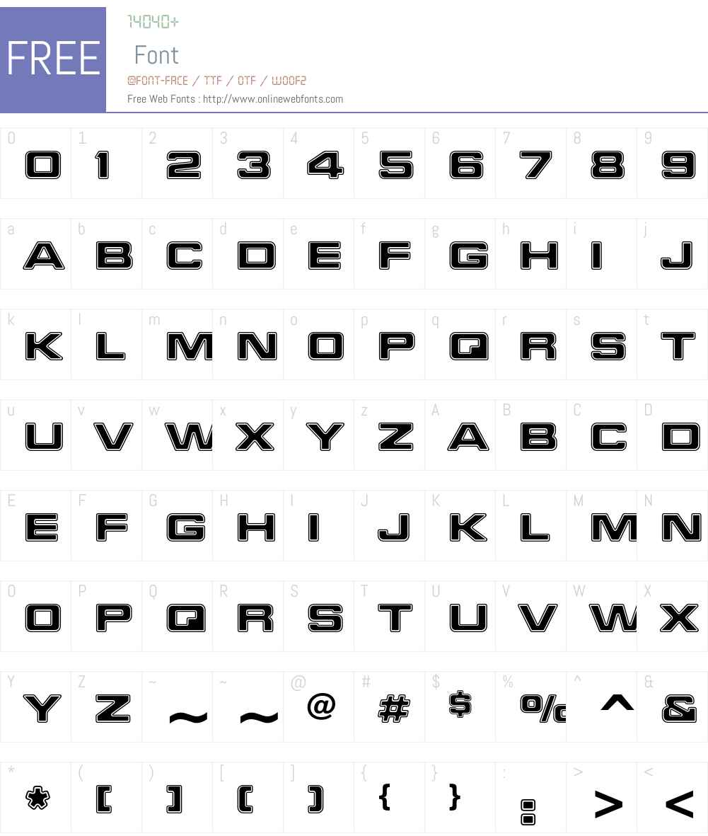 Millenium Font Screenshots