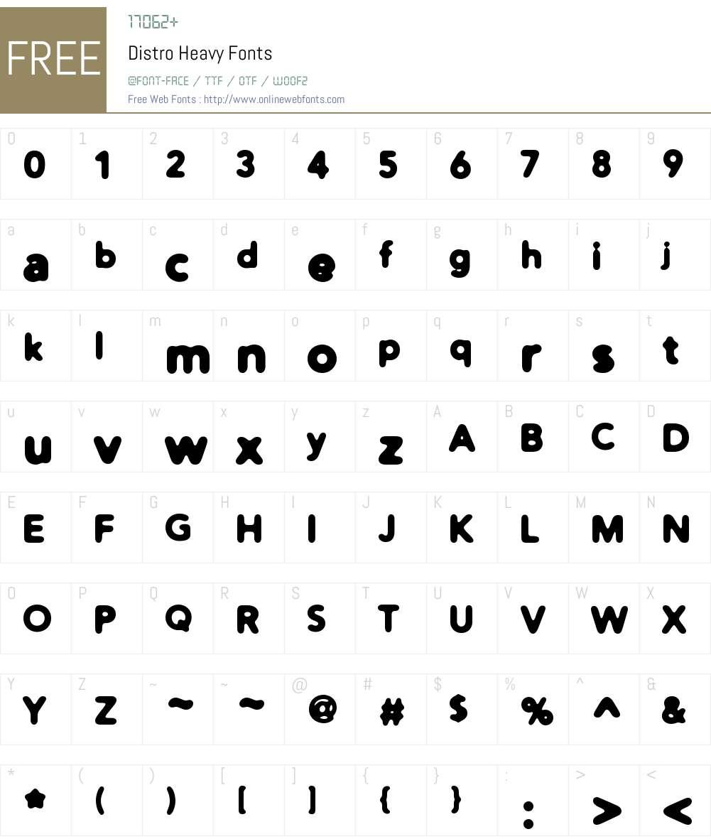 Distro Heavy Font Screenshots