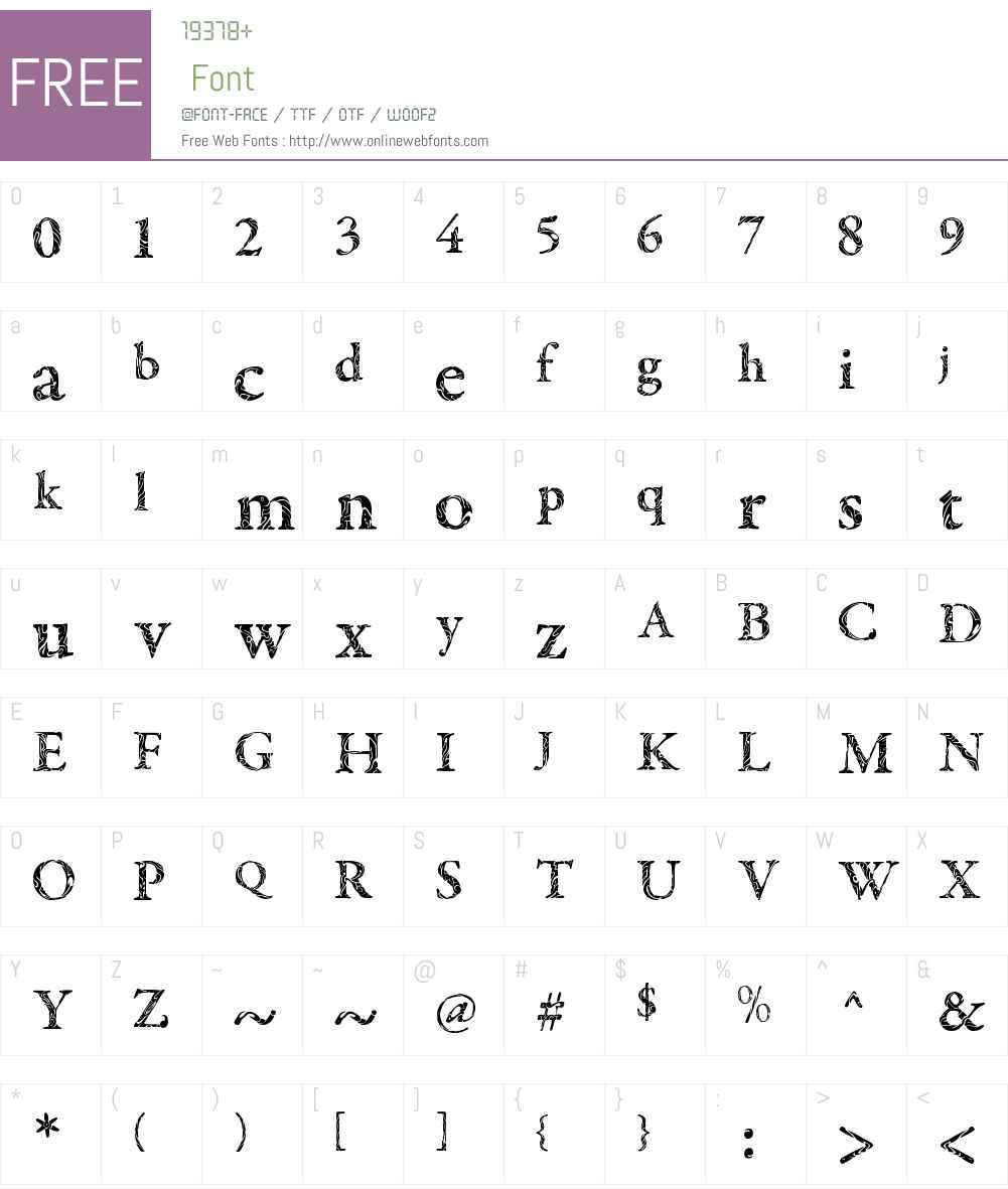 Tribal Garamond Font Screenshots