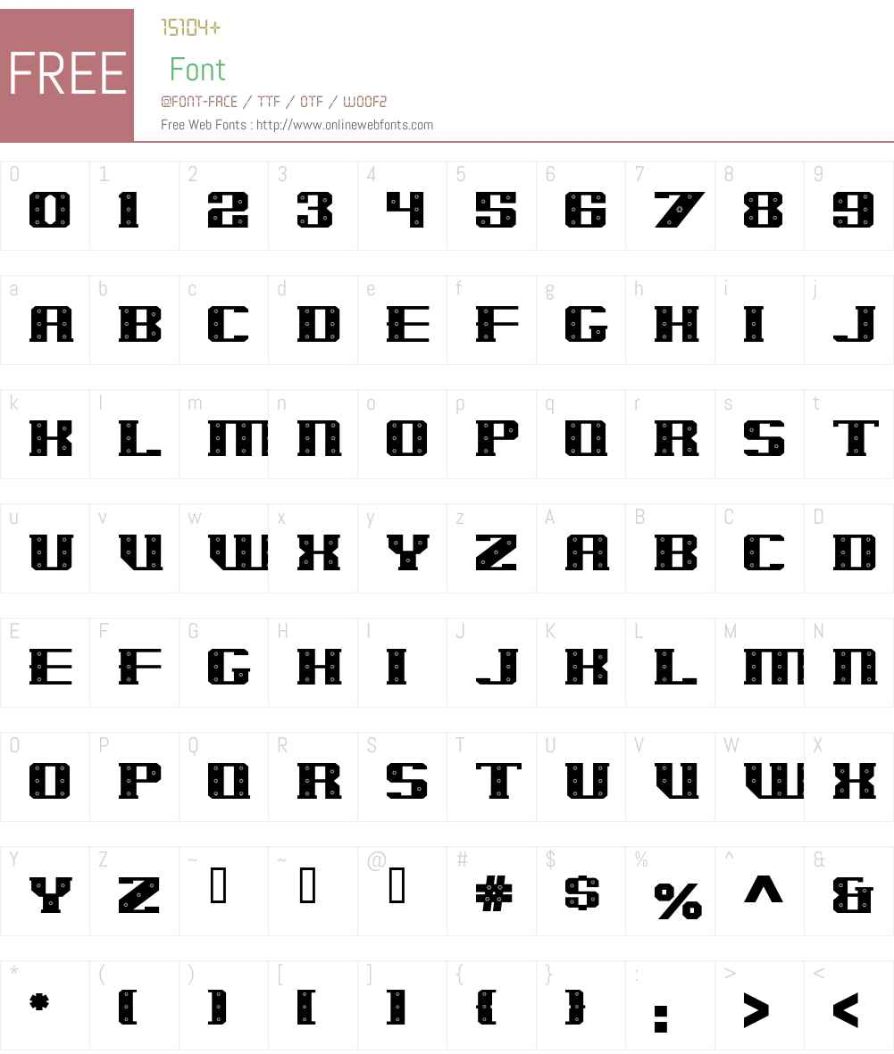 IronCladBolted Font Screenshots