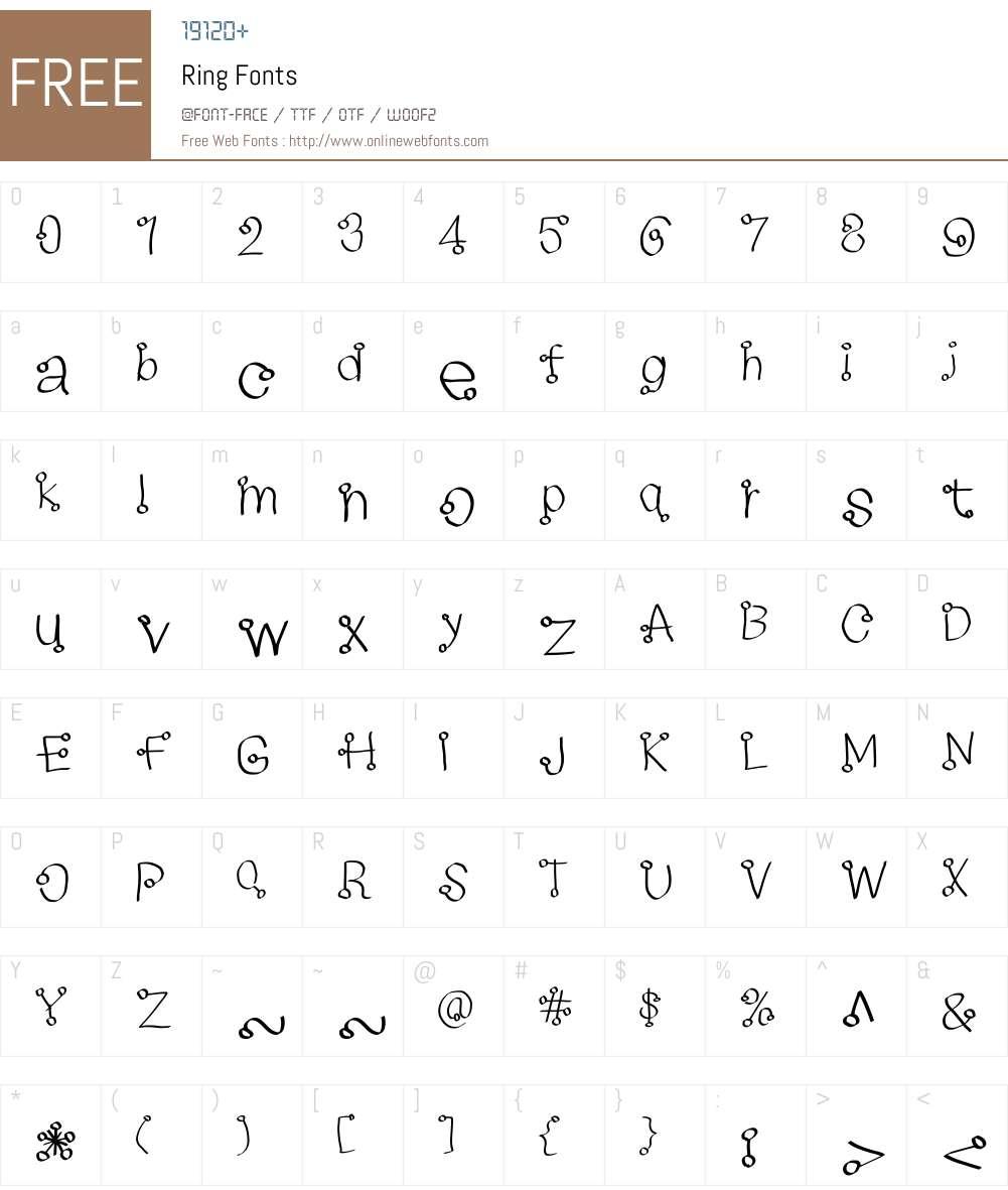 Ring Font Screenshots