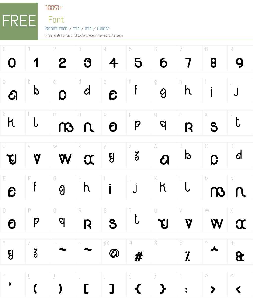 rondi Font Screenshots