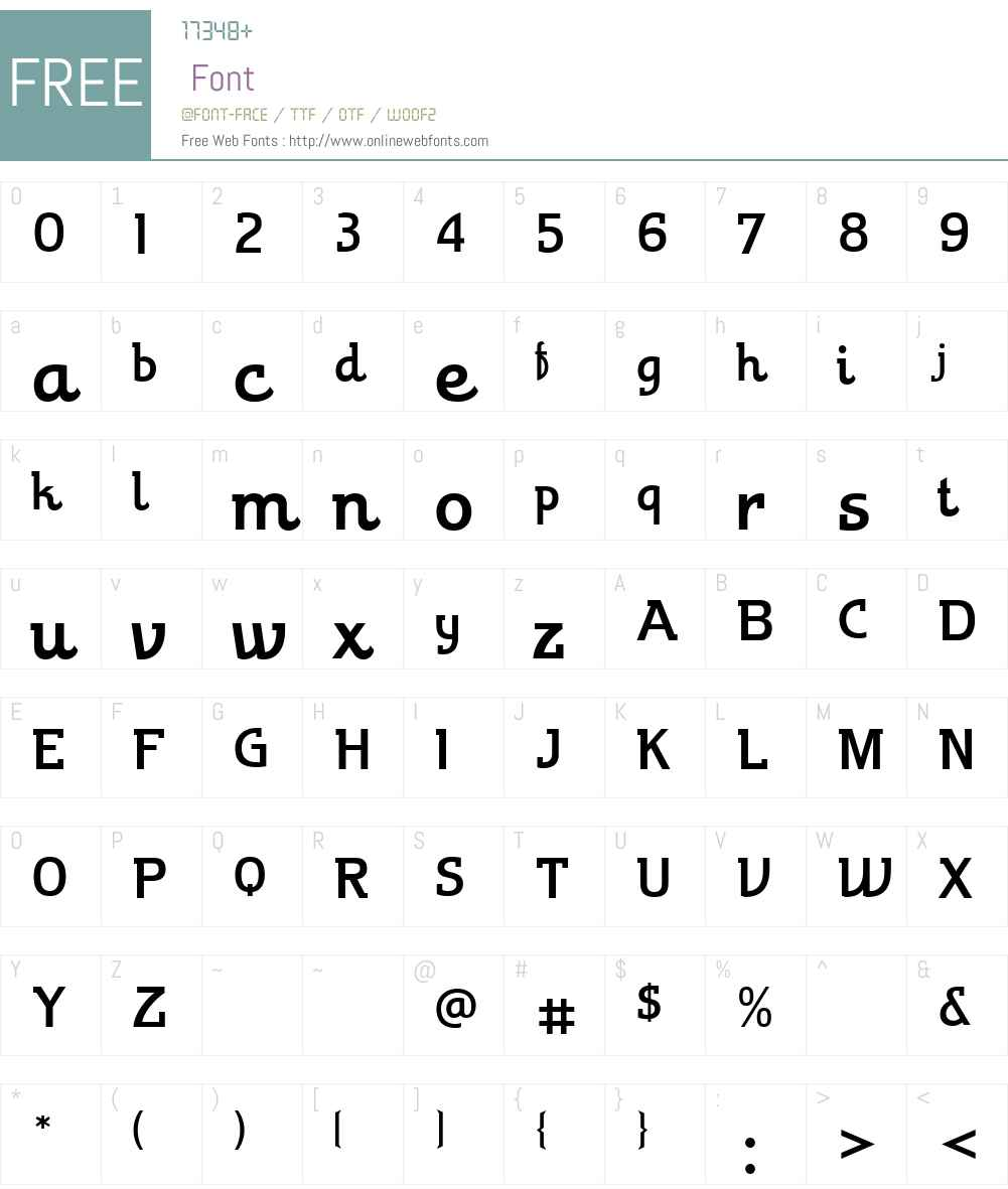 TheoremW00-Regular Font Screenshots