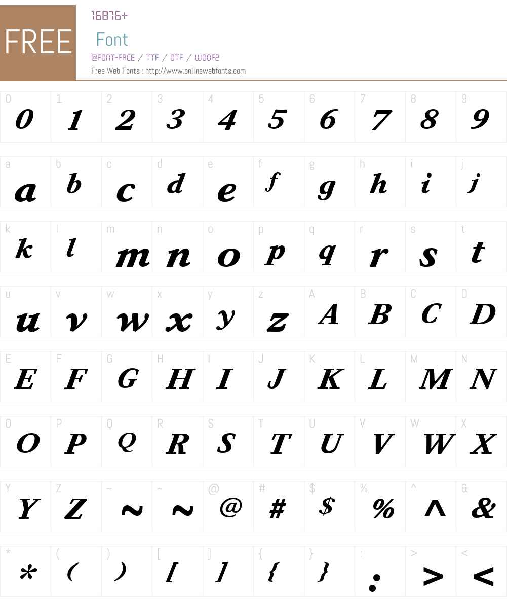AdmarkW01-BoldItalic Font Screenshots