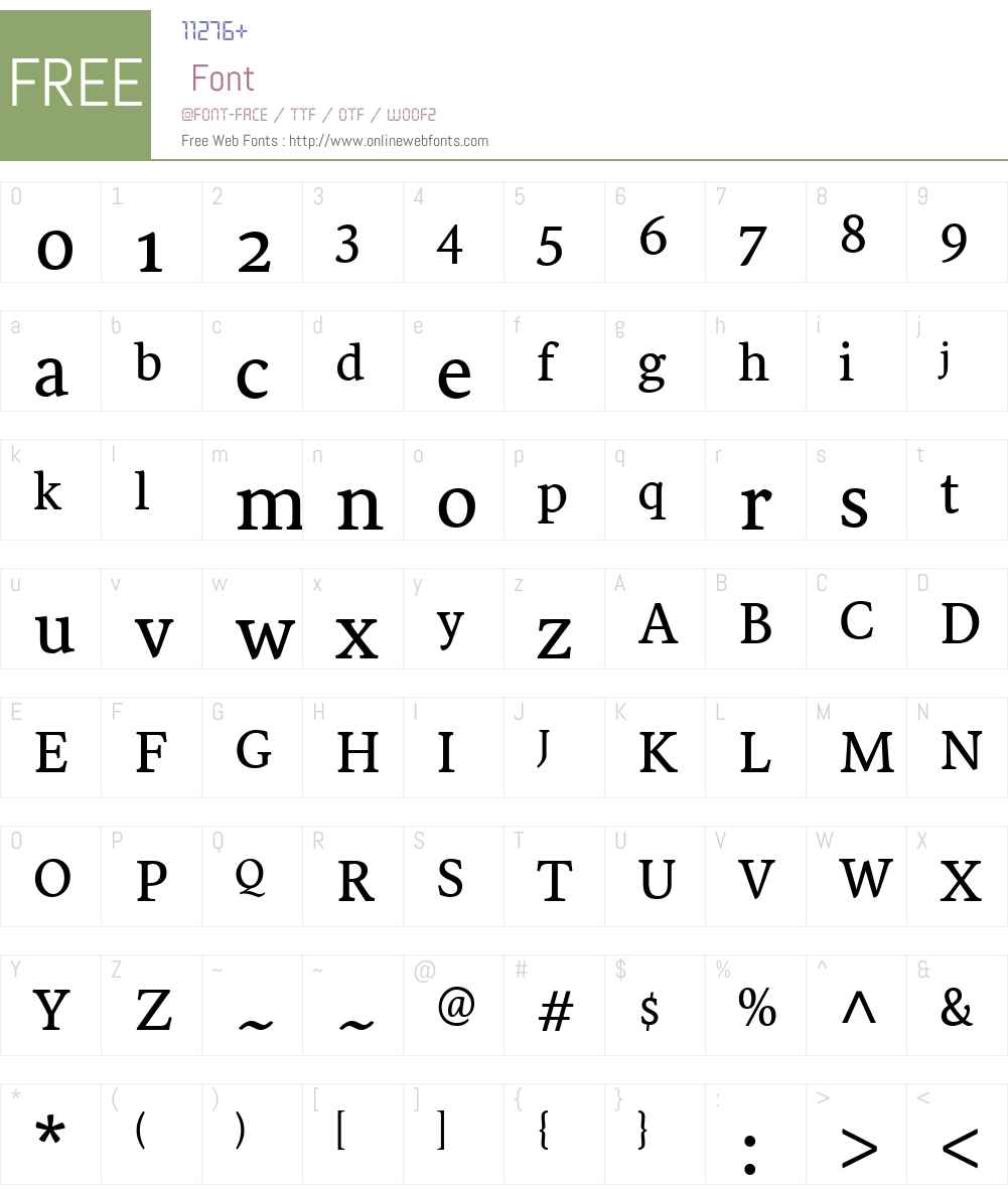 Sirba Font Screenshots