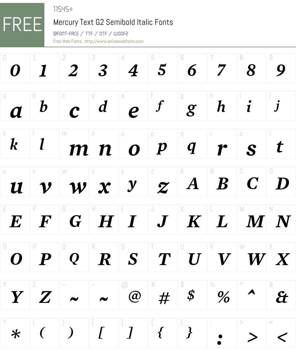 Mercury Text G2 Font Screenshots