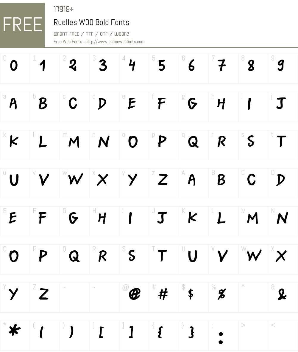 RuellesW00-Bold Font Screenshots