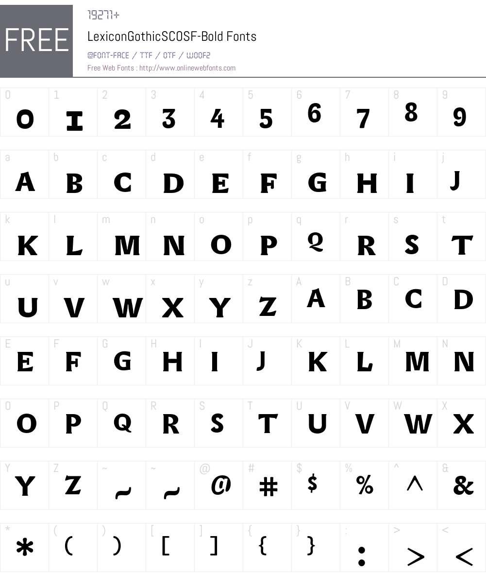 LexiconGothicSCOSF Font Screenshots