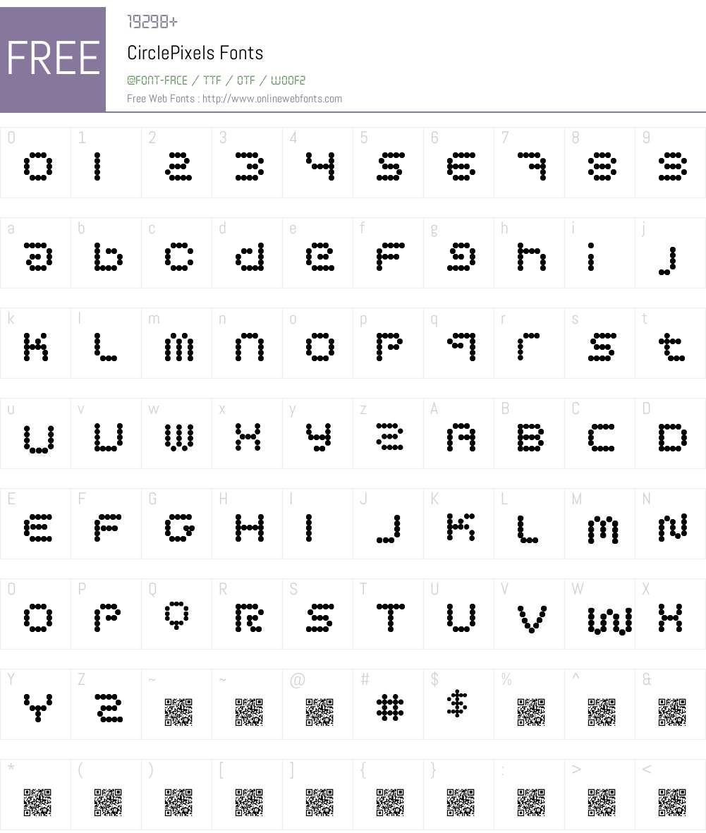 CirclePixels Font Screenshots