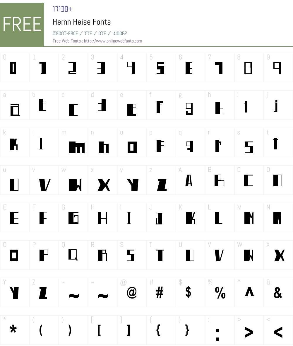 Hernn Heise Font Screenshots