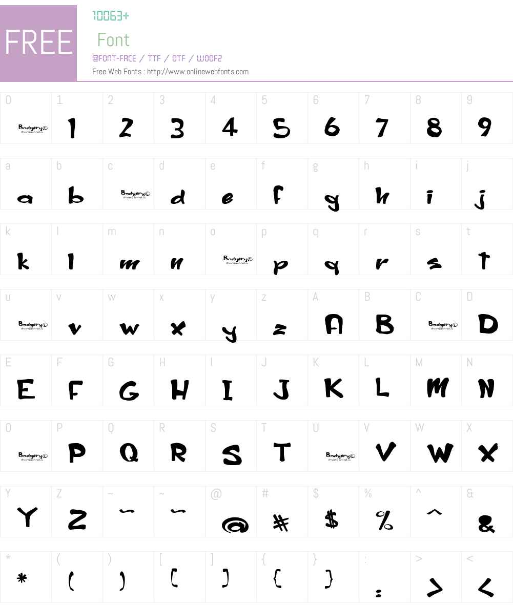 Badgery Font Screenshots