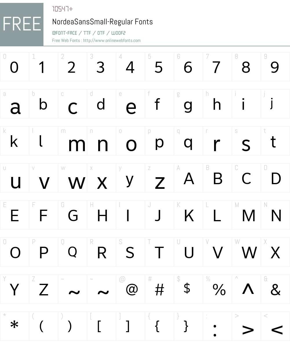 Nordea Sans Small Font Screenshots