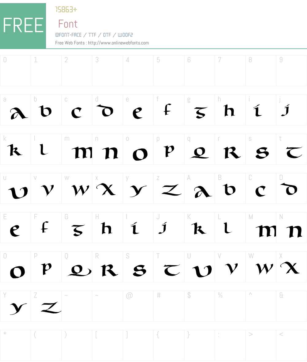 Murray Uncial Font Screenshots