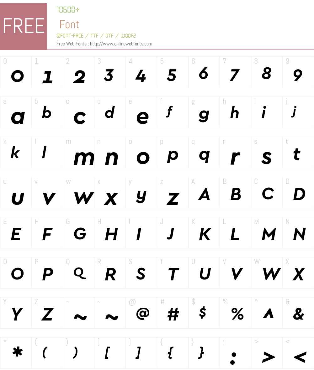 CeraGR-BoldItalic Font Screenshots