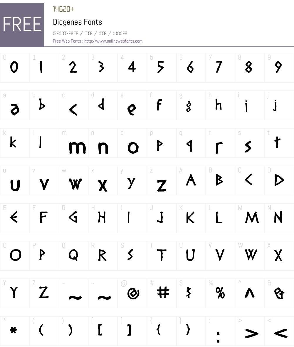 Diogenes Font Screenshots