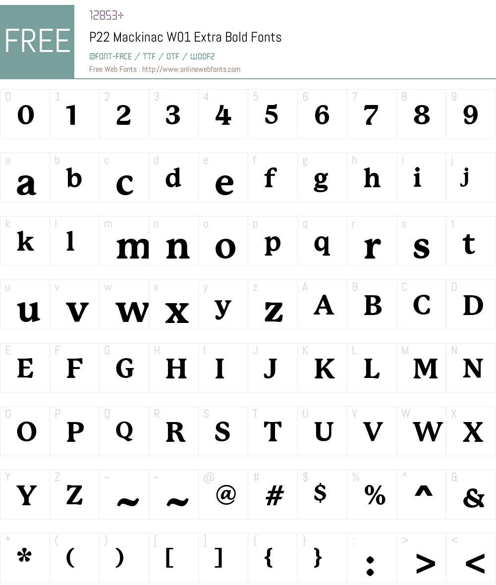 P22MackinacW01-ExtraBold Font Screenshots
