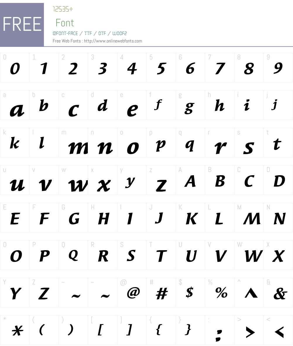 Syndor ITC Std Font Screenshots