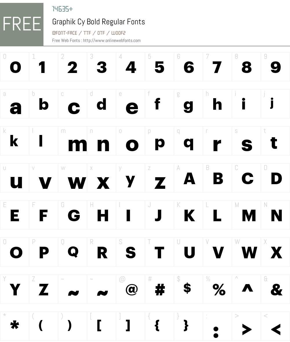 Graphik Cy Bold Font Screenshots