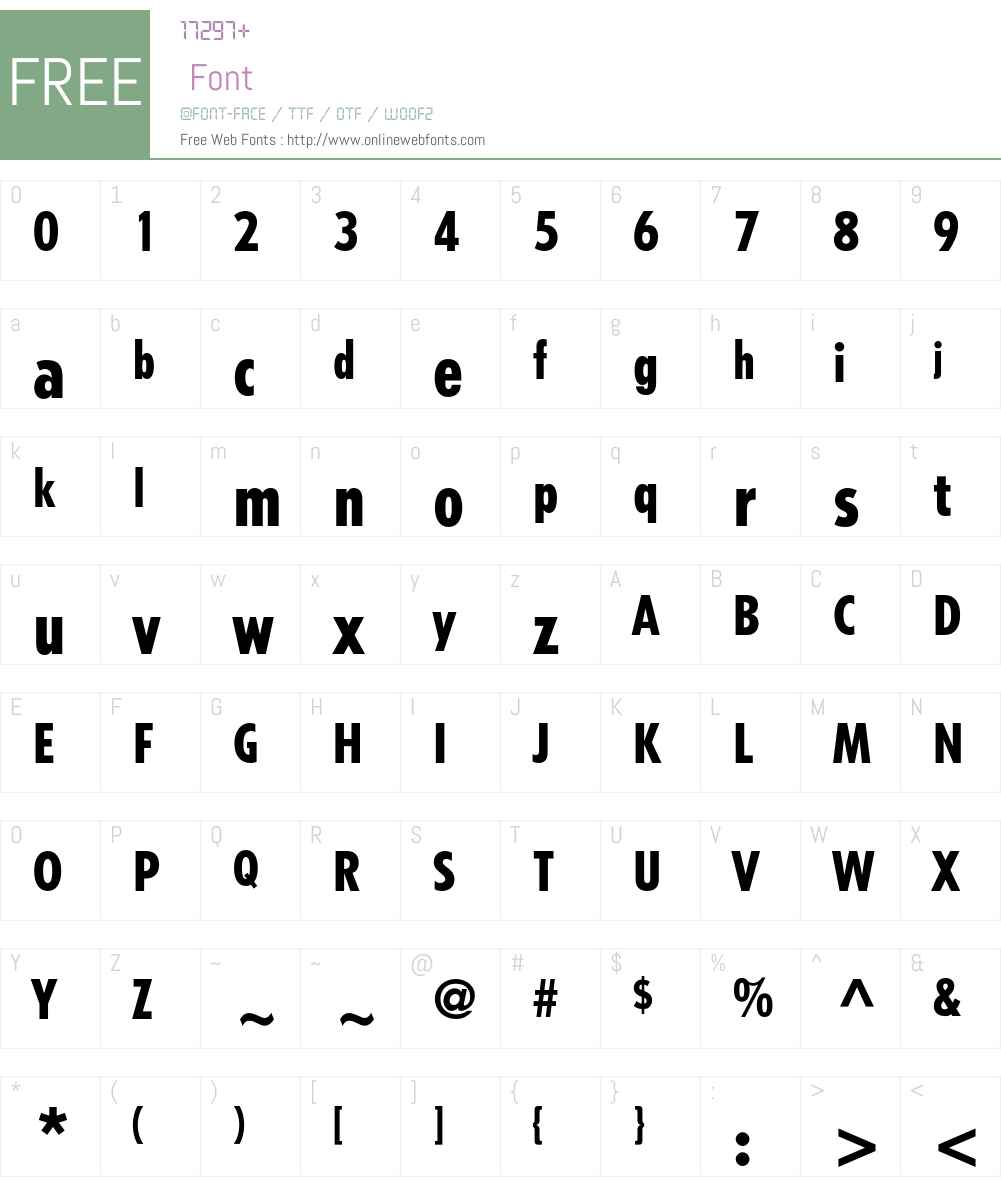 Tempo Font Screenshots