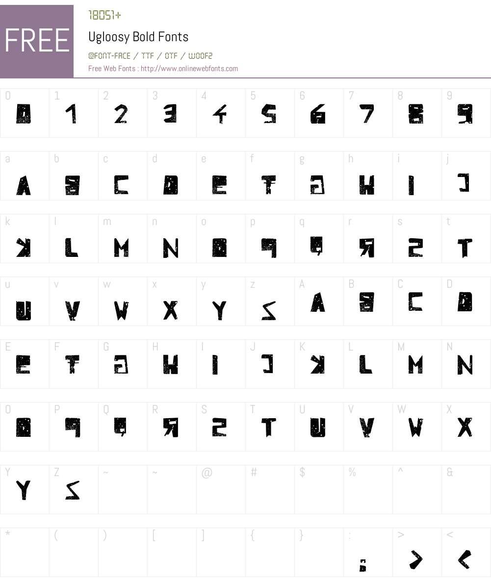 Ugloosy Font Screenshots