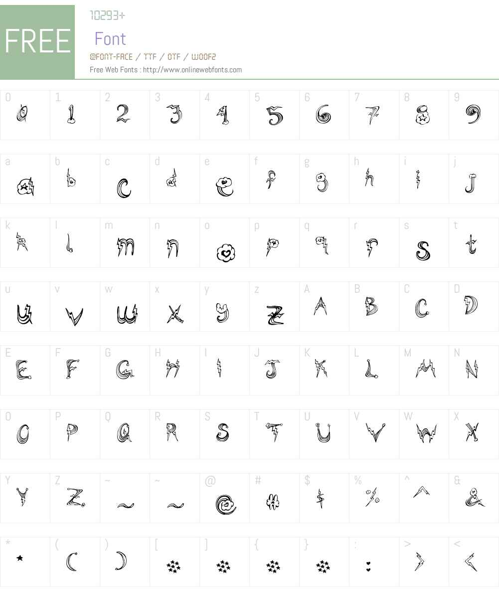 PonyRides Font Screenshots
