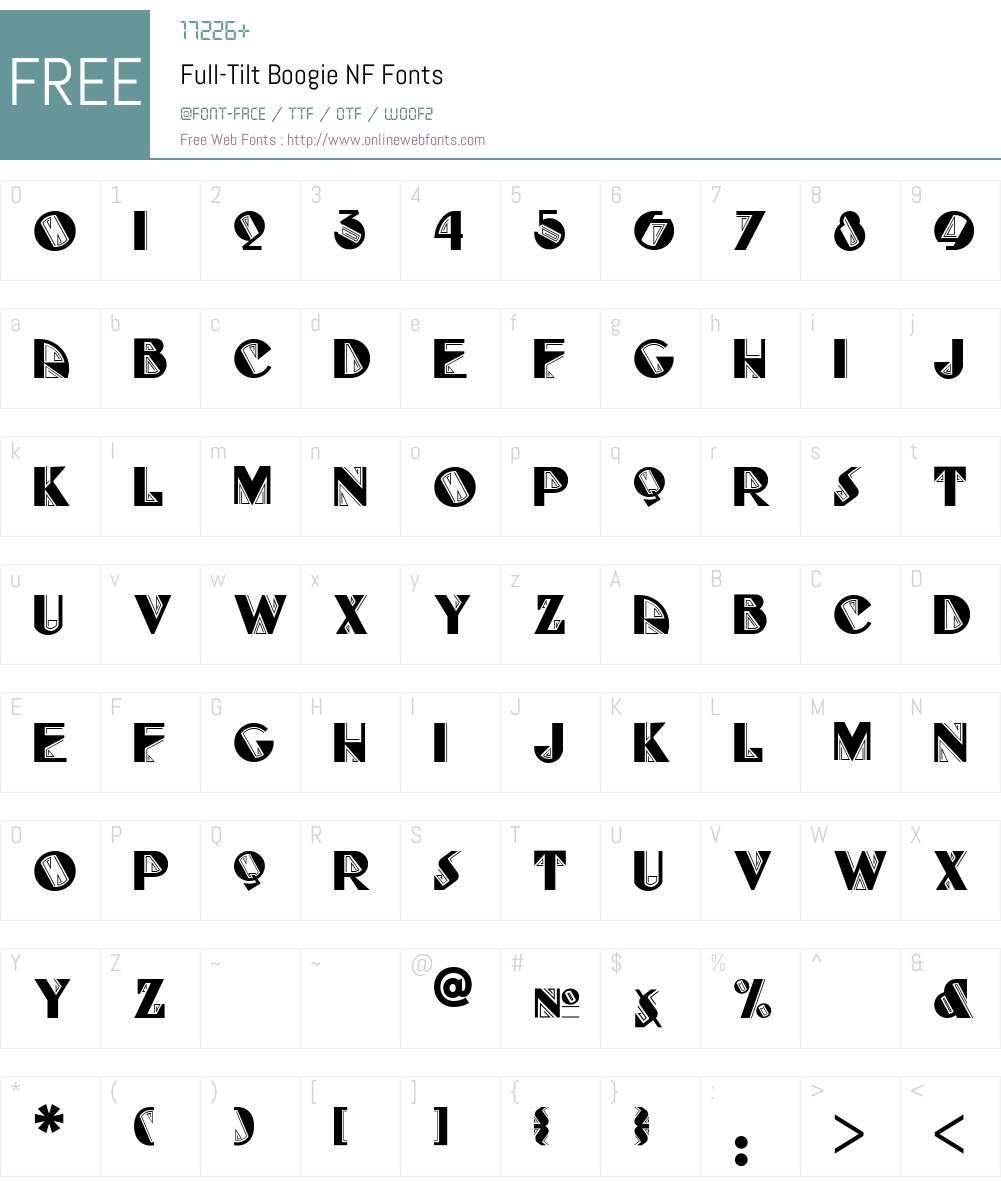 FullTilt Boogie NF Font Screenshots