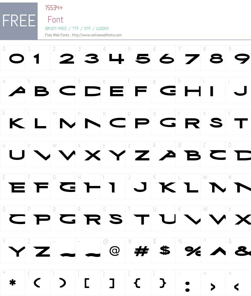 First Blind 2 Font Screenshots