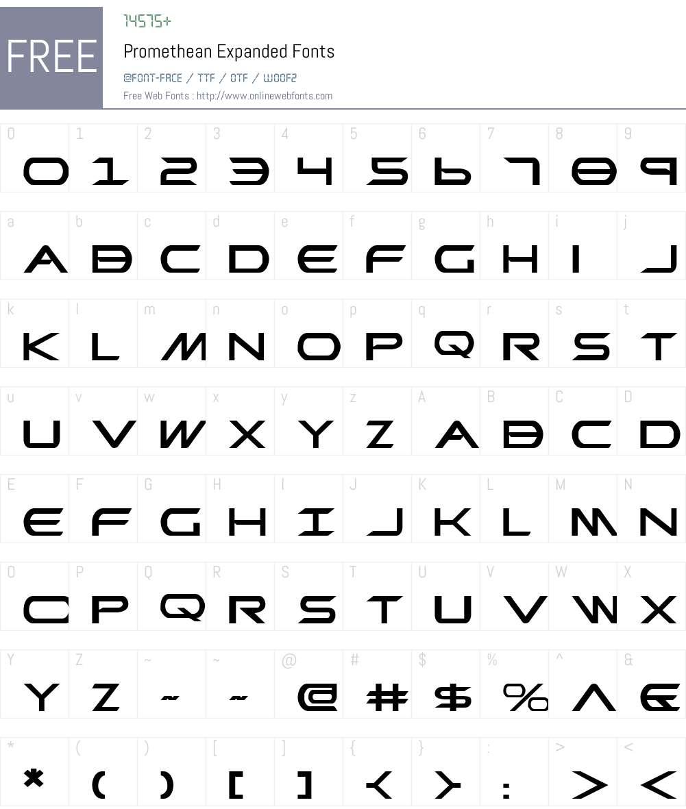 Promethean Expanded Font Screenshots