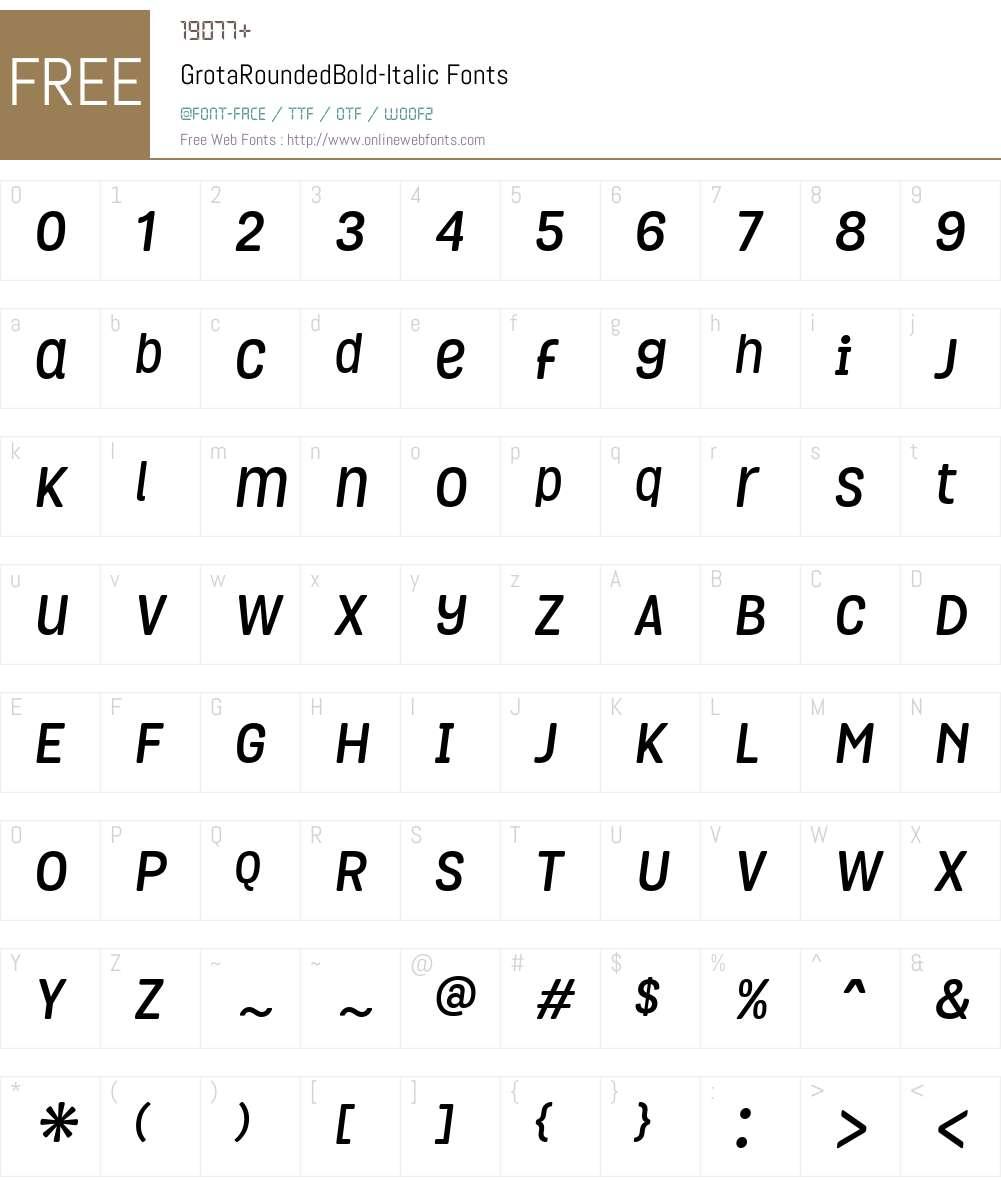 Grota Rounded Font Screenshots