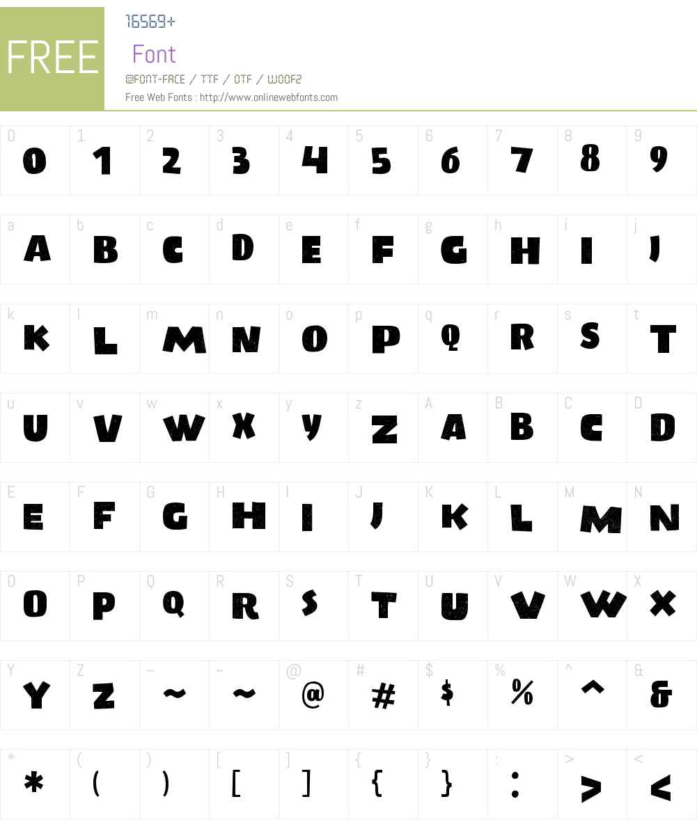 LumberjackyW01-Regular Font Screenshots