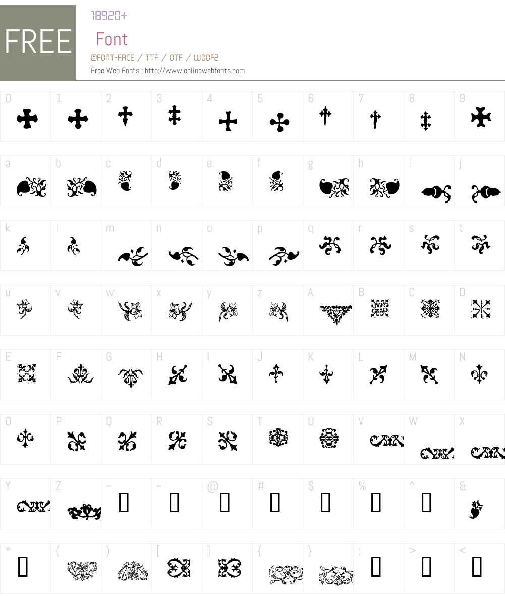 GLC_Ornaments One Font Screenshots