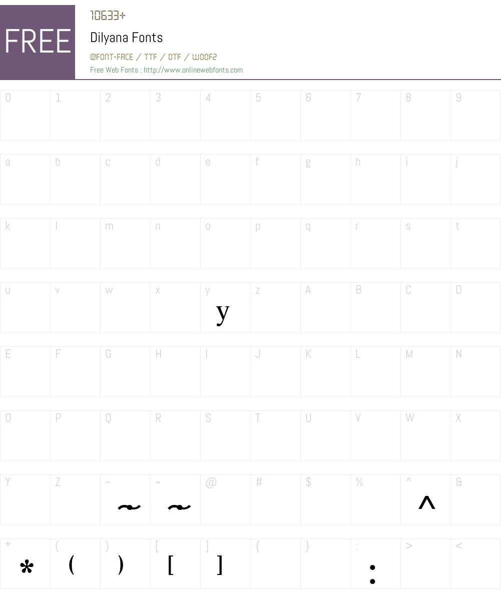 Dilyana Font Screenshots