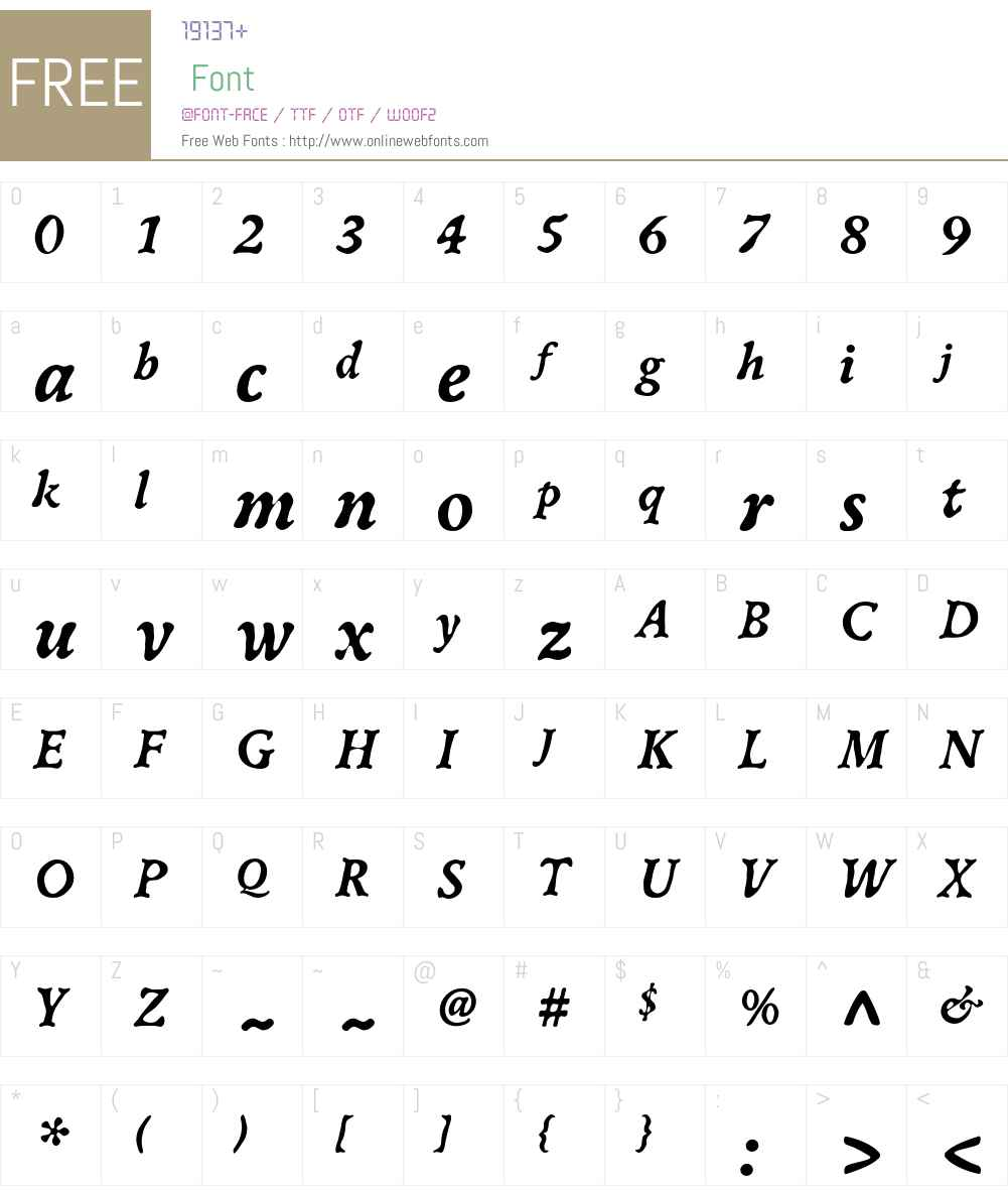 Oldbook ITC Std Font Screenshots