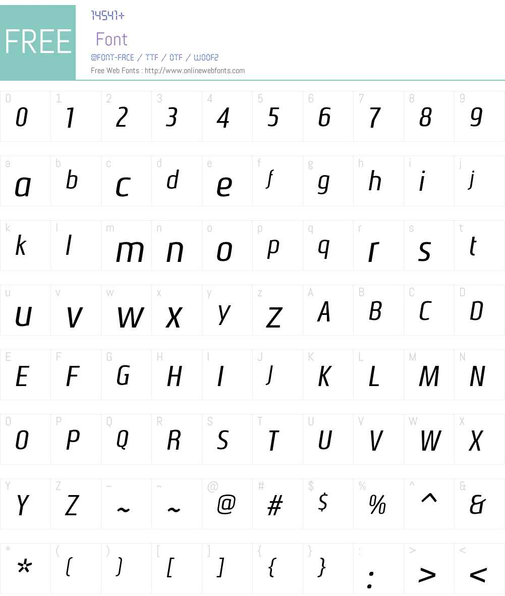 NautikkaW00-RegularItalic Font Screenshots