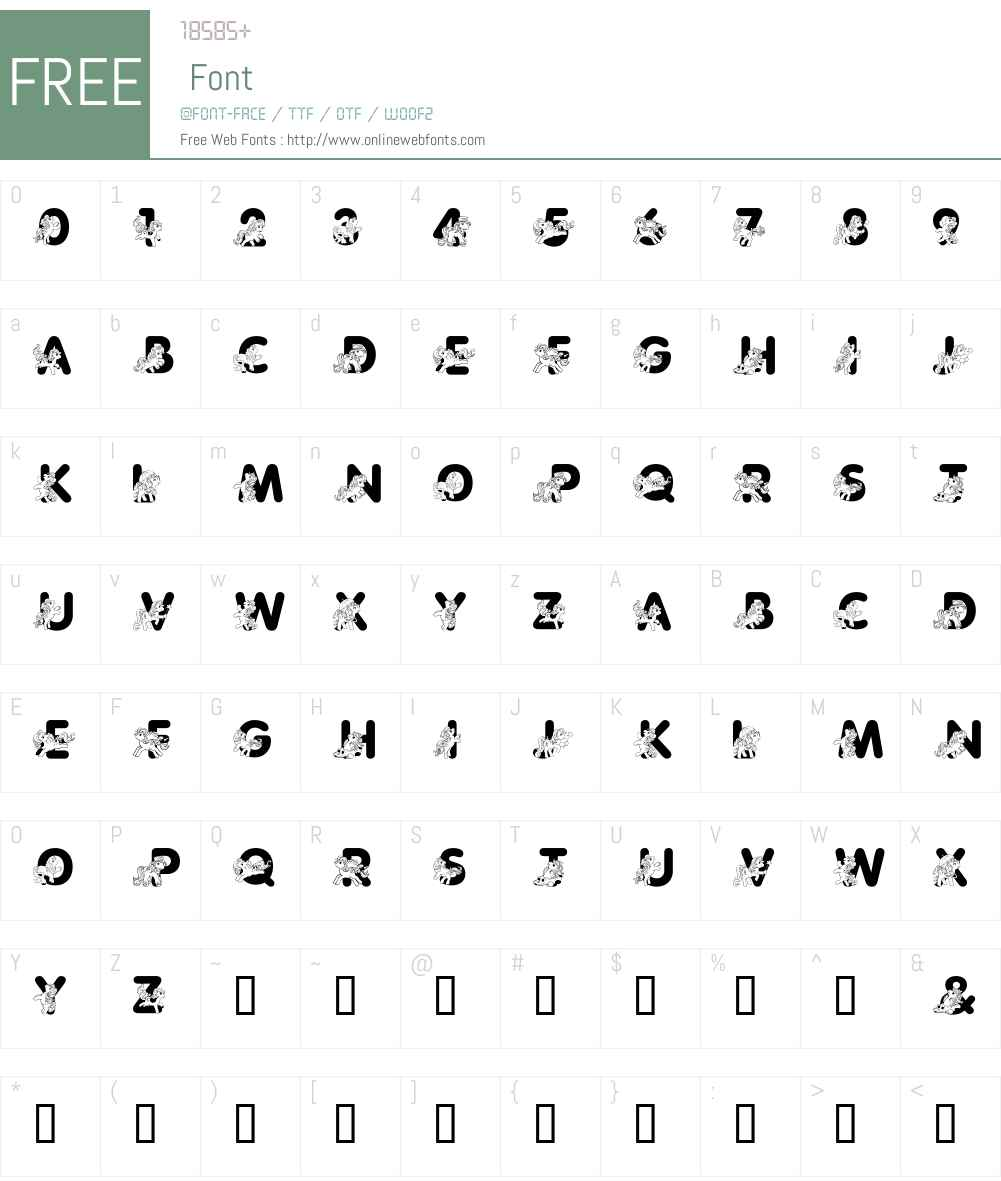 LMS Pretty Pony Font Screenshots