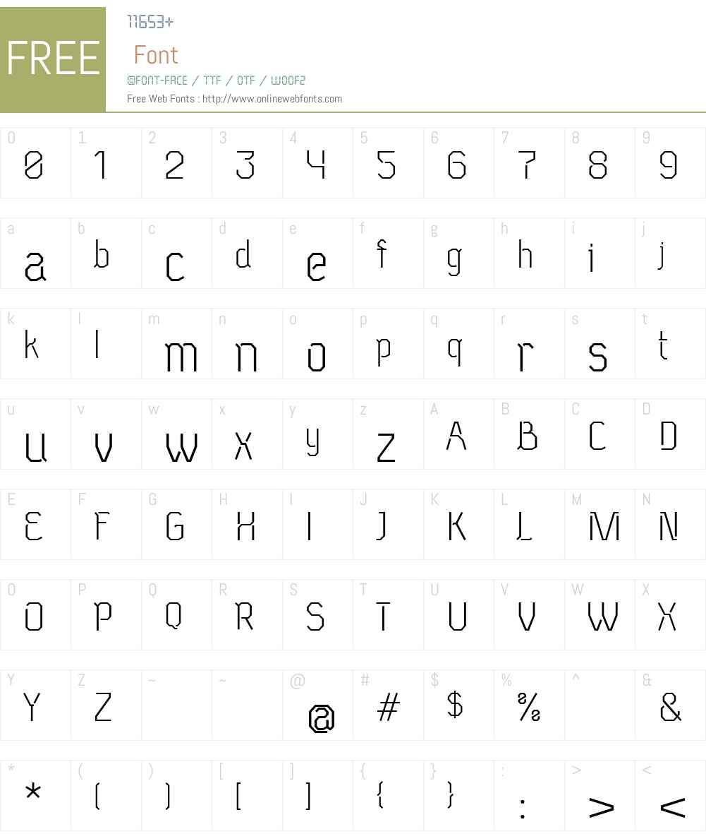 Neu Eichmass Font Screenshots