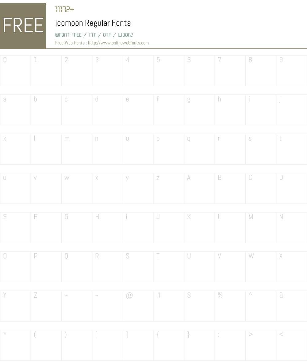 icomoon Font Screenshots