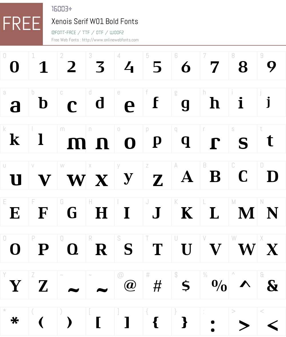 XenoisSerifW01-Bold Font Screenshots