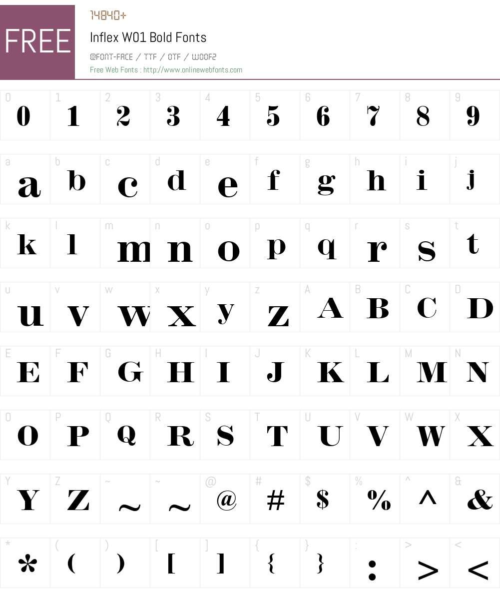 InflexW01-Bold Font Screenshots
