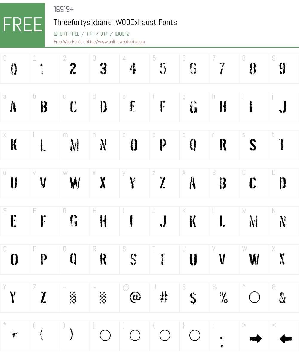 ThreefortysixbarrelW00-Exhaust Font Screenshots
